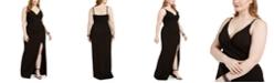Emerald Sundae Trendy Plus Size Juniors' Wrap Gown