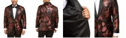 INC International Concepts INC Men's Big & Tall Rust Jacquard Floral Blazer