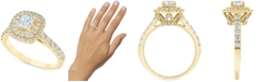 Macy's Diamond Princess Double Halo Engagement Ring (1-1/3 ct. t.w.) in 14k Gold