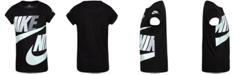 Nike Little Girls Futura Logo-Print Cotton T-Shirt