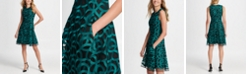 DKNY Embroidered Mesh Fit & Flare
