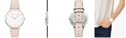 Rebecca Minkoff Women's Major Blush Leather Strap Watch 35mm