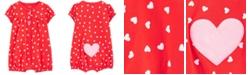 Carter's Baby Girls Cotton Heart-Print Romper