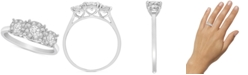 Promised Love Diamond Triple Halo Promise Ring (1/3 ct. t.w.) in Sterling Silver