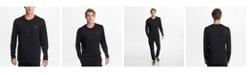 Karl Lagerfeld Paris Men's Long Sleeve Embossed Logo Tee
