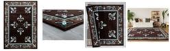 "Asbury Looms Bristol Casselton 2050 11069 28C Turquoise 2'7"" x 7'4"" Runner Rug"