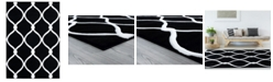 "Asbury Looms Bristol Rodanthe 2050 11570 28C Black 2'7"" x 7'4"" Runner Rug"