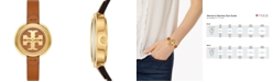 Tory Burch Women's The Miller Luggage Leather Strap Watch 36mm