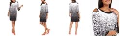 JM Collection Cold-Shoulder Contrast Sheath Dress, Created For Macy's