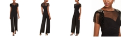 Adrianna Papell Draped Jersey Jumpsuit