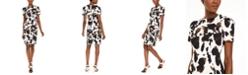 Calvin Klein Cow-Print Sheath Dress