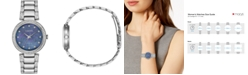 Citizen Eco-Drive Women's Silhouette Stainless Steel & Crystal Bracelet Watch 28mm
