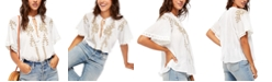 Free People Dahlia Embroidered Top