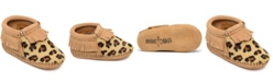 Minnetonka Baby Girls Leopard Riley Bootie