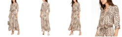 INC International Concepts INC Snake-Print Maxi Shirtdress, Created For Macy's
