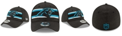 New Era Carolina Panthers Striped Front Tech 39THIRTY Stretch Fitted Cap