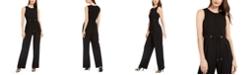 Calvin Klein Drawstring-Waist Jumpsuit