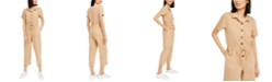 OAT Cotton Drawstring-Waist Jumpsuit