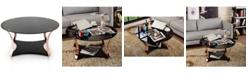 Furniture of America Contessa Glass Top Coffee Table