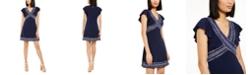 Michael Kors Snakeskin-Trim Mini Dress