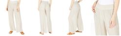 BCX Juniors' Smocked-Waist Wide-Leg Soft Pants