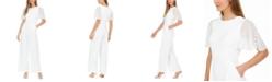 Calvin Klein Chiffon-Sleeve Jumpsuit
