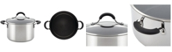 Circulon Innovatum Stainless Steel Wide Nonstick 4-Qt. Sauce pot with Glass Lid