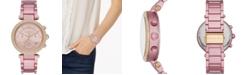 Michael Kors Women's Chronograph Parker Pink Aluminum Bracelet Watch 39mm