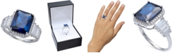 Macy's Cubic Zirconia Blue Statement Ring in Sterling Silver
