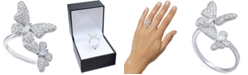 Macy's Cubic Zirconia Pave Butterfly Ring in Sterling Silver