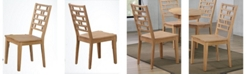 ICONIC FURNITURE Designer Back Side Chair, Set of 2