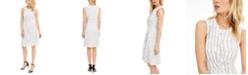 Calvin Klein Petite Striped Wrap-Style Dress