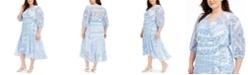 Calvin Klein Plus Size Bandana-Print Wrap Dress