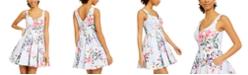 Trixxi Juniors' Floral Fit & Flare Dress