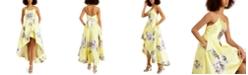 Speechless Juniors' Floral-Print High-Low Dress