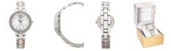 Charter Club Women's Silver-Tone & White Bracelet Watch 33mm