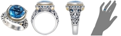 EFFY Collection Balissima by EFFY Blue Topaz Round Ring in 18k Gold and Sterling Silver (5-3/4 ct. t.w.)