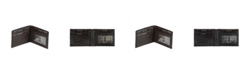 CHAMPS Genuine Leather RFID Blocking Slim Wallet