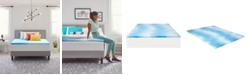 "Comfort Revolution 1.5"" Gel-Infused Memory Foam Mattress Topper, Twin XL"
