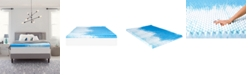 "Comfort Revolution 4"" Reversible Convoluted Memory Foam Mattress Topper, Twin"