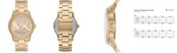 Michael Kors Ritz Three-Hand Gold-Tone Stainless Steel Watch