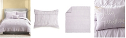 Jessica Simpson 3 Piece Ruched Stripe Twin/Twin XL Comforter Set