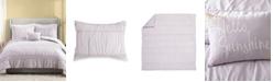 Jessica Simpson 4 Piece Ruched Stripe Full/Queen Comforter Set