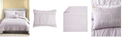 Jessica Simpson 4 Piece Ruched Stripe King Comforter Set