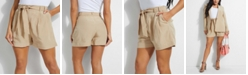 GUESS Hilena Striped Belted Shorts