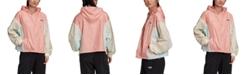 adidas Women's Colorblocked Hooded Windbreaker