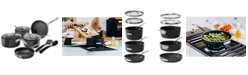 Granite Stone Diamond StackMaster Nonstick Diamond and Mineral Infused Coating 10-Pc. Cookware Set