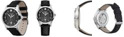Victorinox Swiss Army Mechanical Alliance Black Leather Strap Watch 40mm