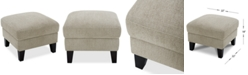 "Furniture Lylie 22"" Fabric Cocktail Ottoman, Created for Macy's"