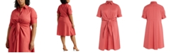 Lauren Ralph Lauren Plus Size Fit-And-Flare Shirtdress